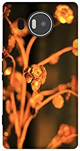 The Racoon Grip Gold Rose hard plastic printed back case / cover for Microsoft Lumia 950 XL