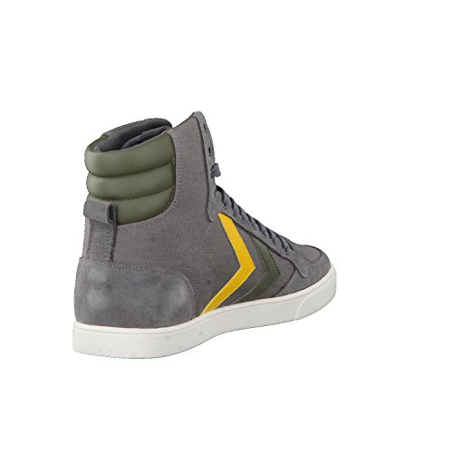 Hummel Unisex-Erwachsene Slimmer Stadil Duo Canvas High Hohe Sneaker Grau (Castle Rock)