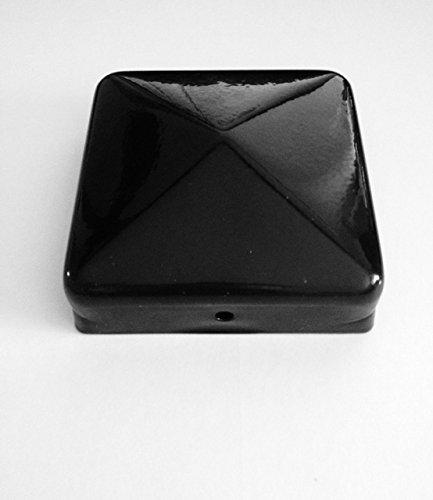20 Stück Pfostenkappe Schwarz - Pyramide 91 x 91 mm