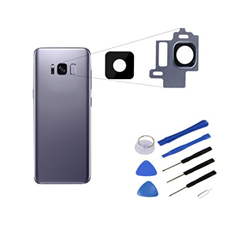 ★ RM ★ para Samsung Galaxy S8Cámara Lente Cámara Lente Cristal Lens con marco lente Orchid Gray Gris Grey Wire + Herramientas para Notebook ★ RM ★