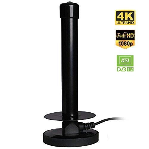 August DTA250 - DVB-T2 Fernseher-Antenne - Sehr Starke Stabantenne für Digital TV / DVB-T2 Tuner Stick / DAB - Mit Magnetfuß - 2m langes Kabel
