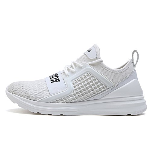 VITIKE Ashion Herren Ausbildung Schuhe Mesh Atmungsaktiv Turnschuhe Fitness Leicht Sport Laufen Schuhe Weiß