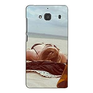 Bluethroat a Girl Lying on The Beach Back Case Cover for Xiaomi Redmi 2 :: Xiaomi Redmi 2S :: Xiaomi Redmi 2 Prime