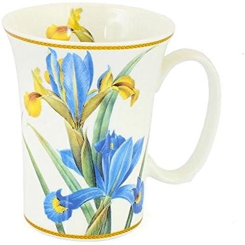 Iris Fiore Tazza di porcellana a forma di tromba The