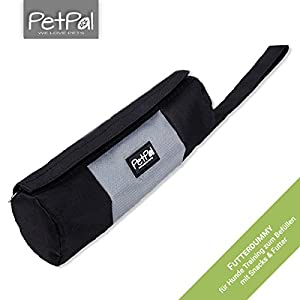 Lining Dog Dummy by PetPäl Fetch for Filling with Snacks & Lining/Sturdy Snack Dummy with Zip/Ideal Feed Bag Bag with Zipper for Dog Training | Ideal Fetch Dog Toy Fetch Toy with Throwing Loop