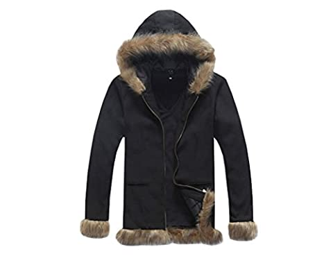 SHINING Cosplay Coat Hoodie Jacket With Plush Edge (L bust:110-114cm)