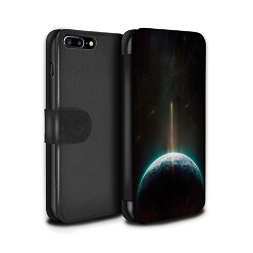 Offiziell Chris Cold PU-Leder Hülle/Case/Tasche/Cover für Apple iPhone 8 Plus / Pack 6pcs Muster / Galaktische Welt Kollektion Phönix/Raumzeit