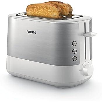 Philips HD2637/00 Grille-Pain avec Fente large Métal/blanc 950 W