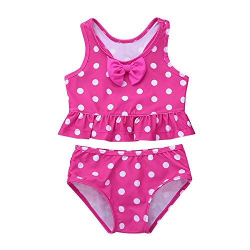 iiniim Mädchen Tankini Polka Dots Pink - 5,99 €