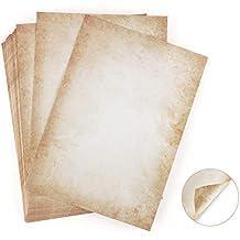 100 Blatt Briefpapier Altes Papier Vintage Absofine Alt Casanova Mittelalterliches Briefpapier DIN A4 Beidseitig 120g