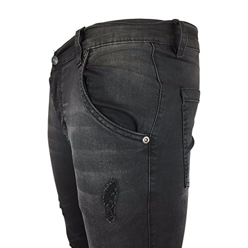 Silk Low Sik Skinny Jeans Rise Abordable Gris Distressed Homme HdqAqgZw