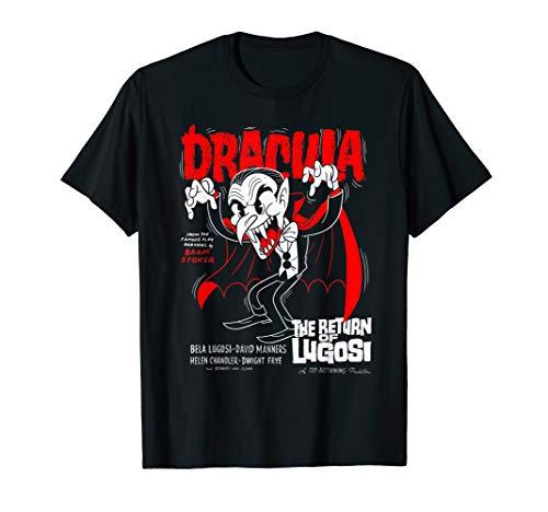 Rückkehr Lugosi altes Cartoon-Plakat T-Shirt ()