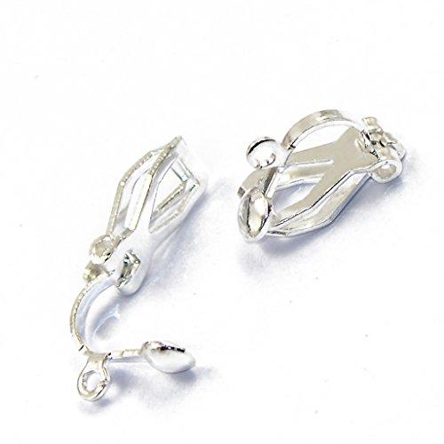 Ohrringe Schmuck Earwire Findings Basteln Silber Weiß ()