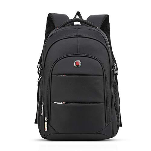 FANDARE Unisexo Mochila Niñas Bolsos Escolares Adolescente Daypack Viaje Mochilas Tipo Casual 15.6-17 Pulgadas Laptop Rucksack Poliéster Negro Grande