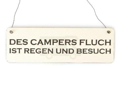 Shabby Vintage Schild Türschild DES CAMPERS FLUCH Holzschild Geschenk Camping Wohnwagen Wohnmobil