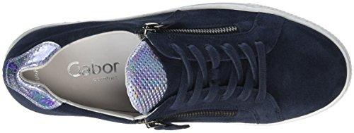 Gabor Damen Comfort Sneakers Blau (ocean / Sky 46)