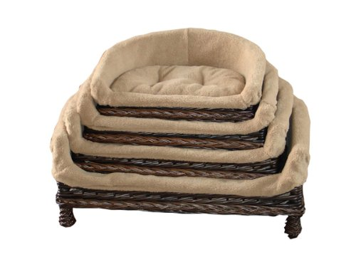 Peachy Luxury Wicker Pet Sofa Dog Sofa Dog Couch With Cushion Small M L Xl Available Large Andrewgaddart Wooden Chair Designs For Living Room Andrewgaddartcom