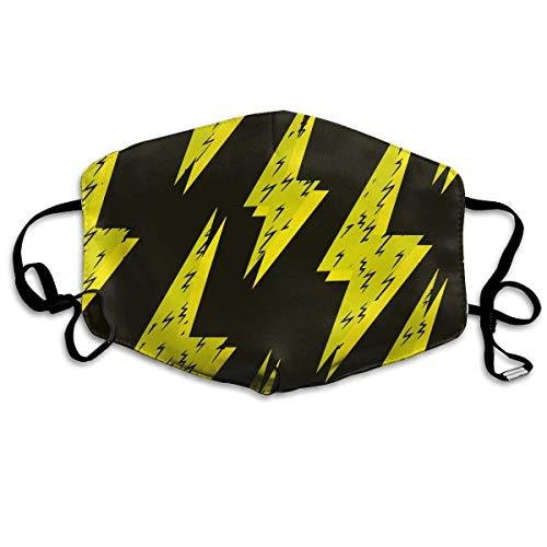 an s Lightning Grunge Warm Unisex Fashion Warm Anti-Dust Washable Reusable Mouth Mask ()