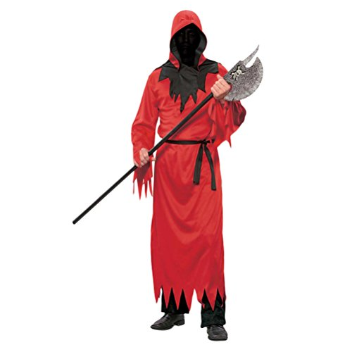 eid Adults Mens Cosplay Costume Red Robe Fancy Party Halloween Dress Costume Outfit with Belt (Teen Hai Kostümen)