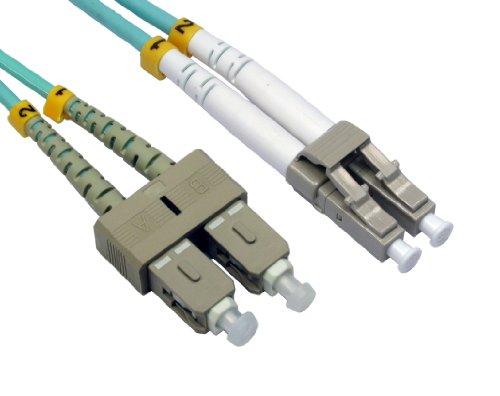 OM3 Aqua LWL Optisch LC sc Duplex mm 50 125 Patchkabel Lszh Kabel 2 m - Sc-mm Duplex-lwl-kabel