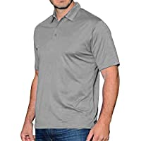 Santhome Polyester Shirt Neck Polo For Men for Men - Grey