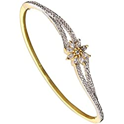 Sitashi 18 K Gold Plated AD American Diamond Fashion Jewelry Bracelet For Girls & Women