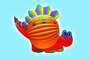 Idena 971028 - Lampion, Laterne Dino, 40 x 30 cm, mehrfarbig