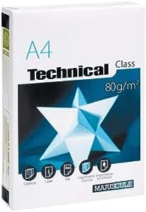 Majuscule-ramette Papier Technical A4 80g Blanc A