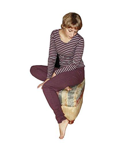 Leela Cotton Damen Freizeit, Yoga Hose Bio-Baumwolle (XL, Bordeaux)