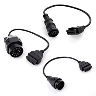 Generic DYHP-A10-CODE-1664-CLASS-7-- Stecker Kabel abel Auto Adapter to Ad OBD2 OBDII BMW 20pin n&14pin Mercedes 38pin&14pin 0pin auf 16pin BDII BM --DYHP-DE10-160828-484