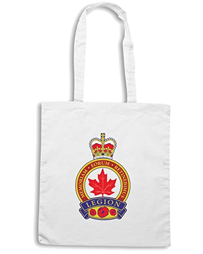 T-Shirtshock - Borsa Shopping TM0412 Royal Canadian Legion militari Bianco