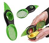 takestop® 3 in 1 Coltello Taglia AFFETTA Avocado RIMUOVI NOCCIOLO Manuale FETTE OVALI Spicchi Pratico Facile Veloce Professionale PLASTICA