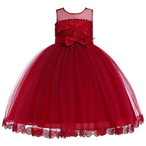 UFODB Hochzeitskleider Für Kinder Mädchen, Baby Girl Kleid Festlich Lange Brautjungfern Kleider Hochzeit Prinzessin Party Brautjungfer Festkleid ()