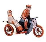 Blechspielzeug zum Aufziehen tin toys wind up new rare-Dreirad für Zwei Motorrad mit Beiwagen Seitenwagen rot blau Spielzeug