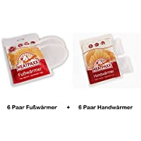 MiniPack 6 x Fußwärmer + 6 x Handwärmer Heatpaxx