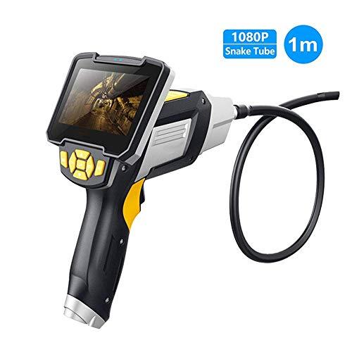 WMM-Endoscope Endoscopio Industriale tenuto in Mano del Monitor LCD a 4.3 Pollici, Macchina Fotografica d'ispezione Semi-Rigida del periscopio del Collo D'Oca del Diametro di 8mm con 6 luci del LED
