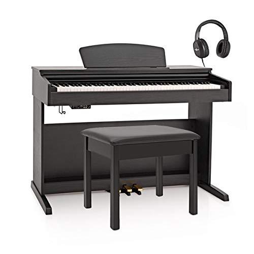 DP-10X Pianoforte Digitale Gear4music + Pacchetto con Panca Nero Opaco