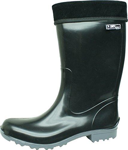 BOCKSTIEGEL® TESSA Donna - Stivali di gomma alla moda (Taglie: 37-42) Black / grey