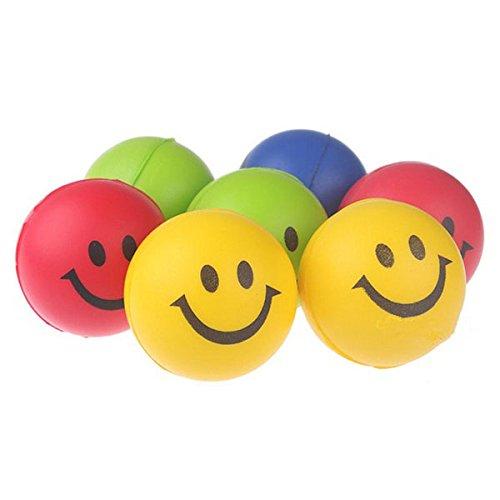 12pcs-Feliz-Sonrisa-Cara-Stress-Alivio-Bola-Juguete