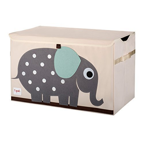 3SPROUTS Toy Chest Juguetero Plegable (Elephant)