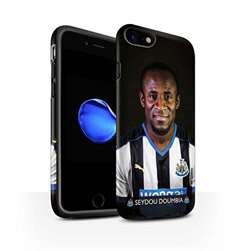 Officiel Newcastle United FC Coque / Matte Robuste Antichoc Etui pour Apple iPhone 7 / De Jong Design / NUFC Joueur Football 15/16 Collection Doumbia