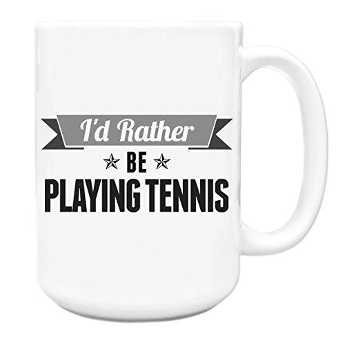 Grau Becher I 'd Rather Be Playing Tennis Big 444ml 106 (Grau Tennis-griffe)