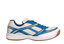 Nivia Super Court Badminton Shoes white/blue (2)