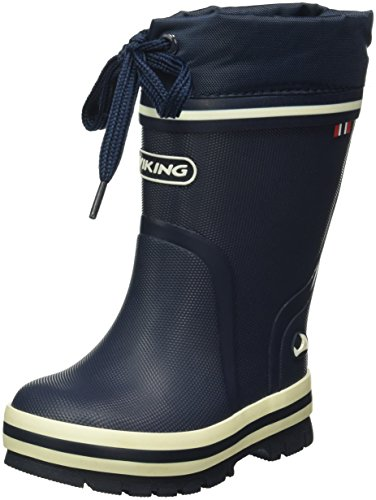 Viking Unisex-Kinder New Splash Winter Gummistiefel Blau (Navy 5)
