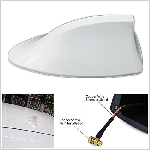 Motoway Car Shark Fin Roof Antenna Radio FM/AM Car Accessories Decorate White For Hyundai Santro Xing