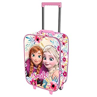 Karactermania Frozen Smile-Valigia Trolley Soft 3D Equipaje Infantil, Multicolour, 52 Centimeters