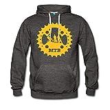 Spreadshirt Mountainbike Kettenblatt MTB Fahrrad Männer Premium Hoodie, XL, Anthrazit
