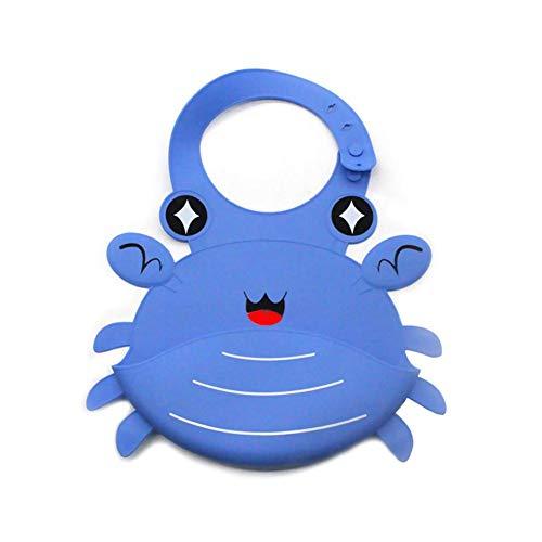 (Baby Lätzchen, Wiederverwendbare Lebensmittel-Grade-Silikon-Kleinkind-Lätzchen, wasserdichter waschbarer Fleck und Geruch beständig für Speichel sabberndes Zahnen)
