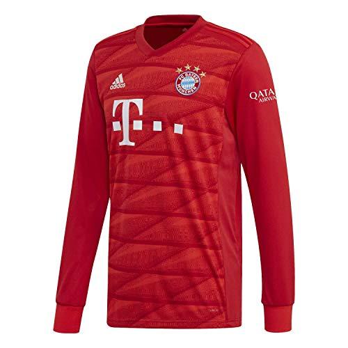 adidas Herren FC Bayern München Home Langarm Trikot 2019/20 FCB True RED M - Adidas Climalite Langarm-trikot