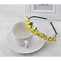 Zorux Mode-Rosen-Blumen Kronen-Stirnband Garland Blumenhaar-Band Zubeh?r Festival Hochzeit Haarschmuck f¨¹r Frauen M?dchen